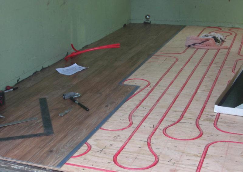 Теплый пол для деревянных покрытий