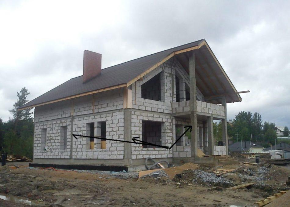 Возведение, строительство каменных домов