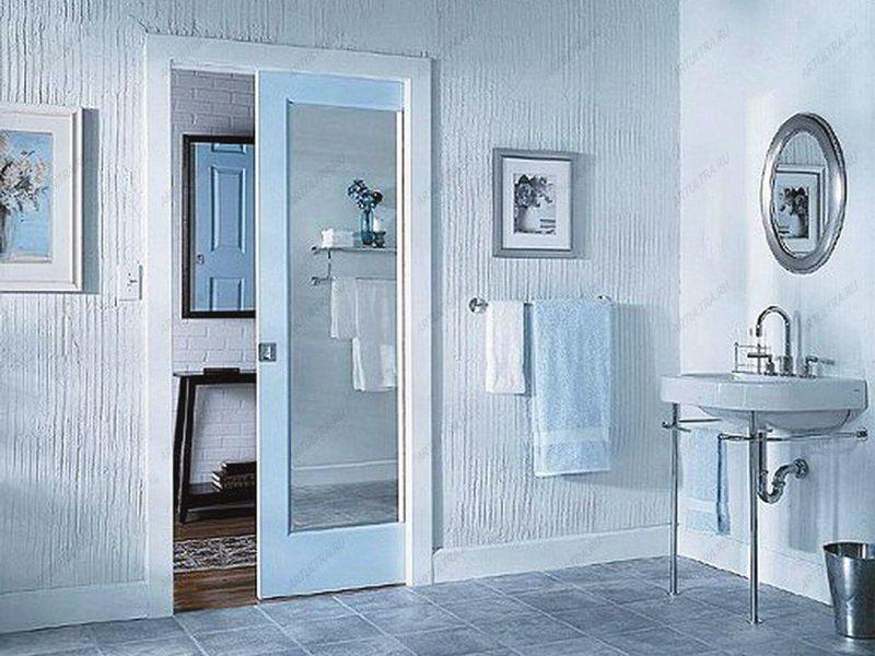 Установка двери в ванной