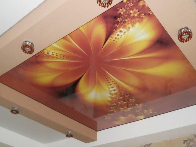 Натяжной потолок с фотопечатью: особенности и технология монтажа