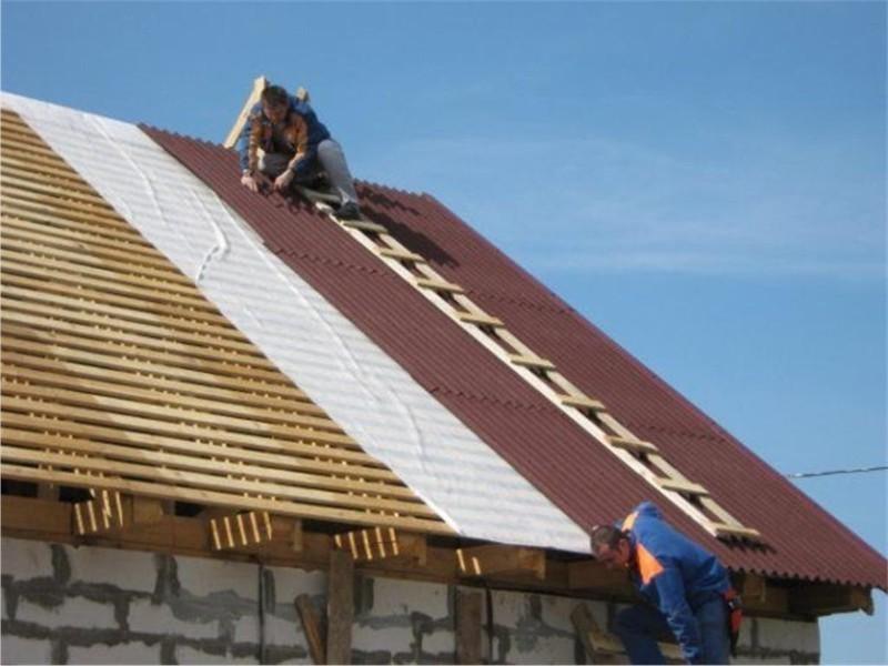 Как покрыть крышу ондулином?
