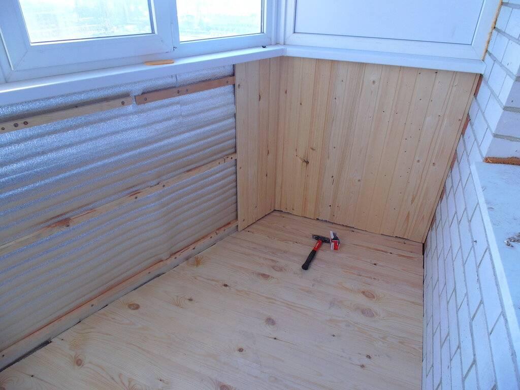 Как сменить старый пол на балконе на новый