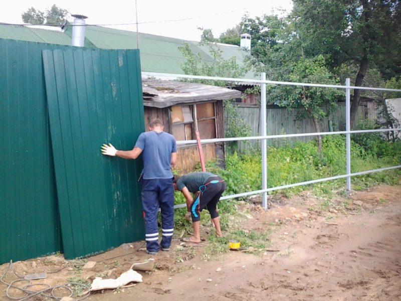 Строим забор своими руками