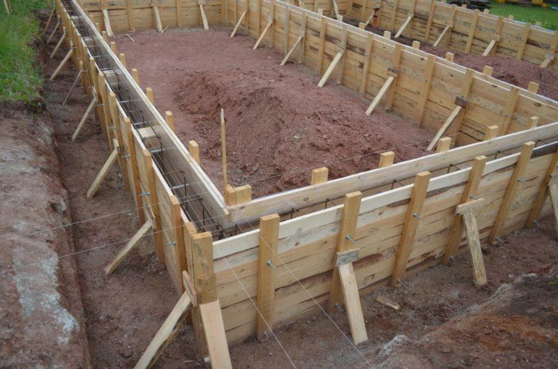 Устройство опалубки для ленточных и столбчатых фундаментов, опалубки для колонн и стоек