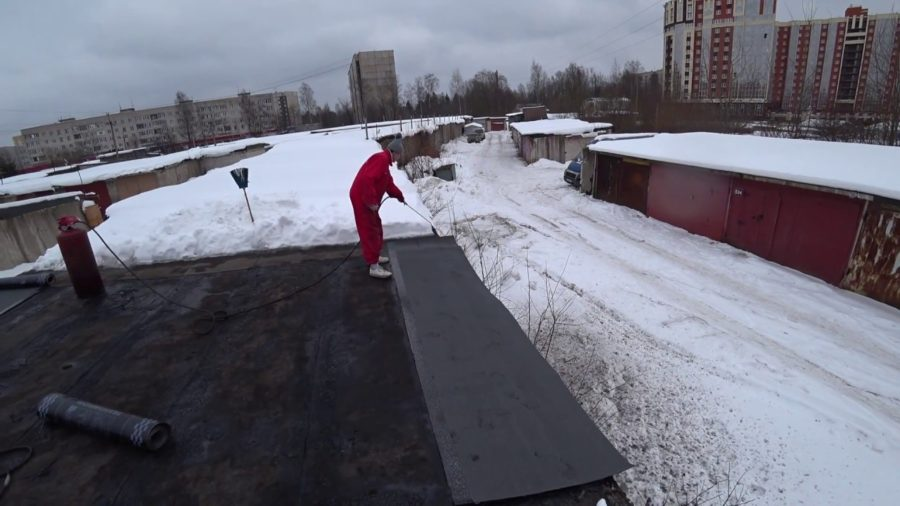 Покрытие крыши в зимний период