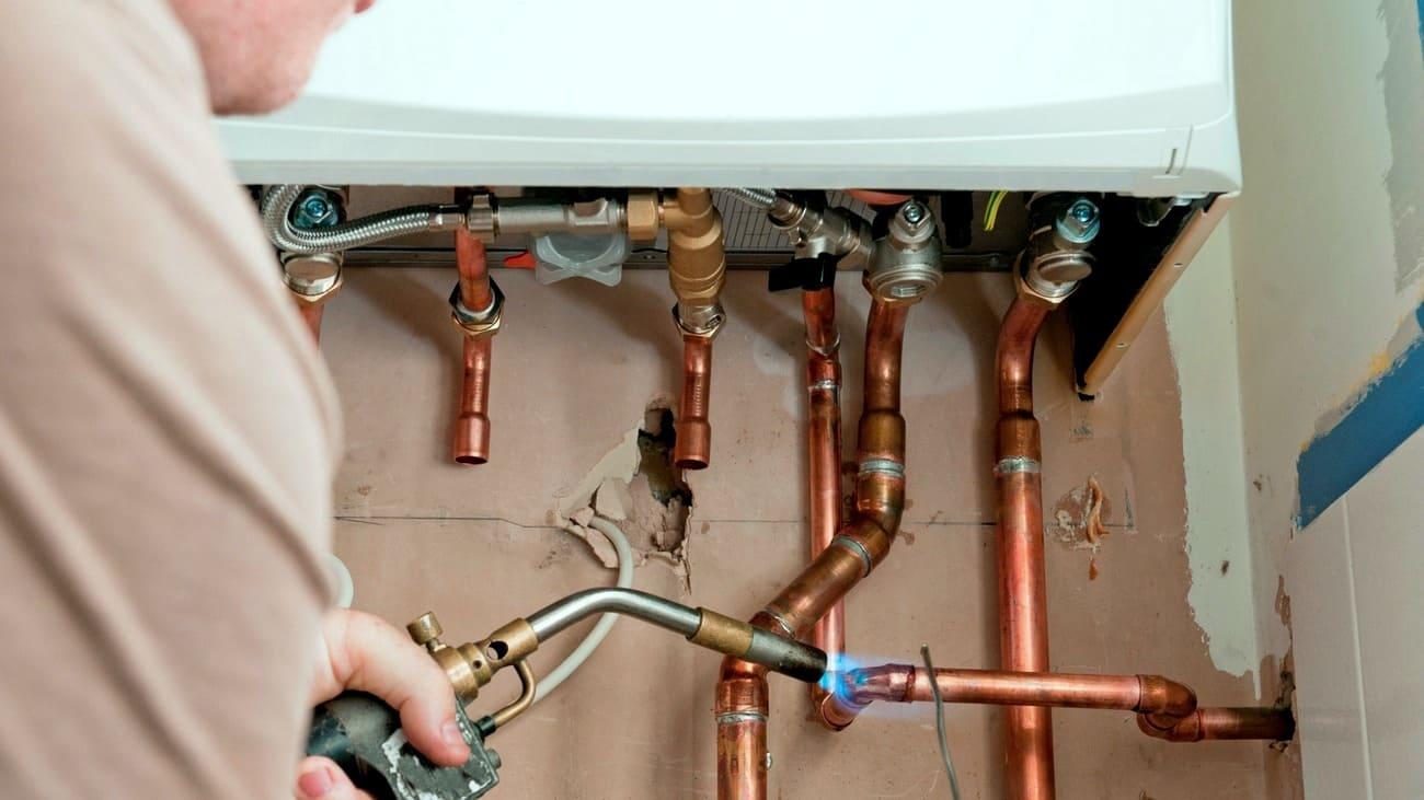 Монтаж медных труб отопления