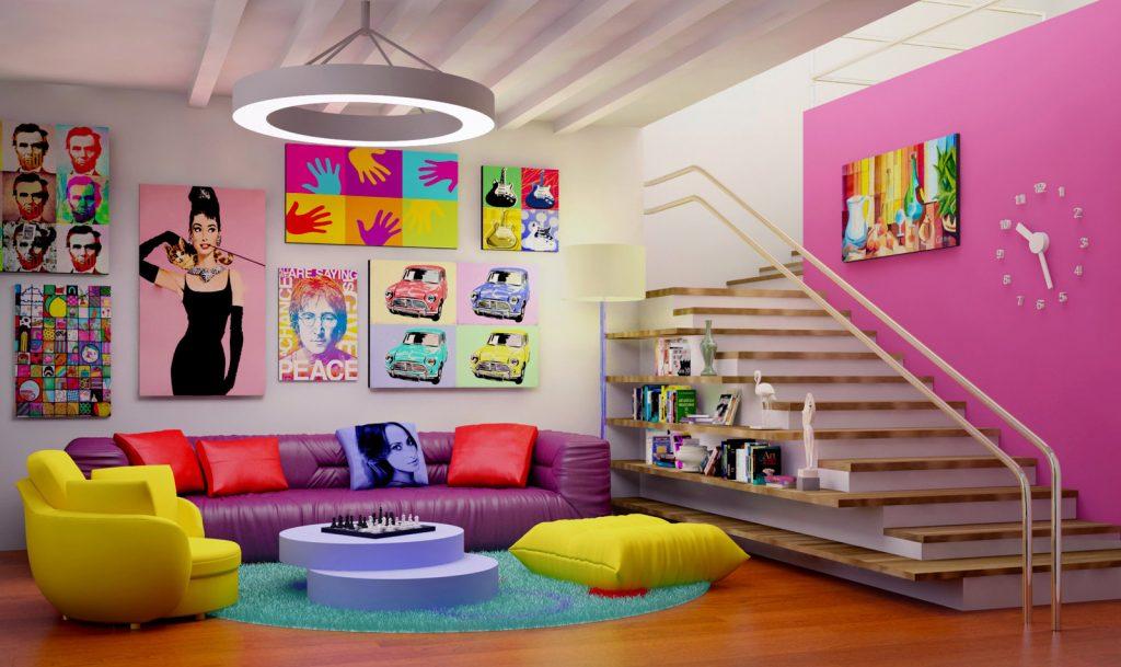 Дизайн помещения в стиле Поп-Арт