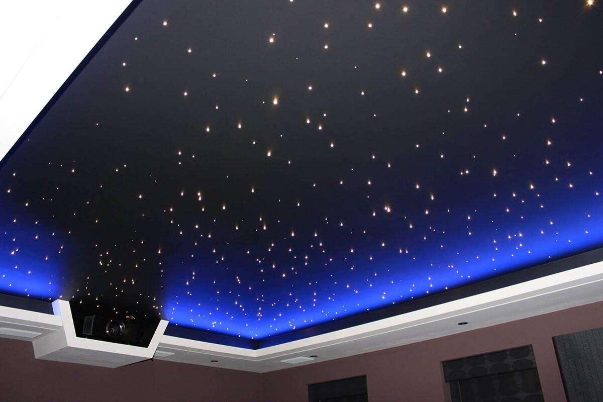 Звездное небо под крышей дома моего