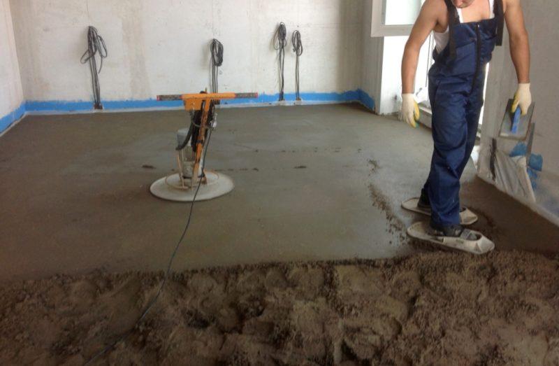 Производство бетонной стяжки пола