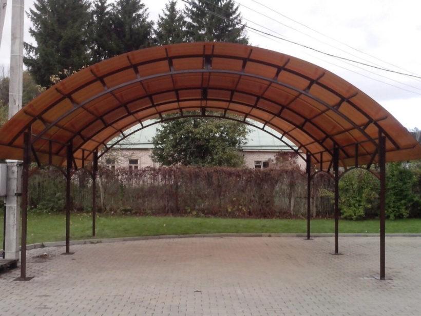 Арочные навесы из поликарбоната
