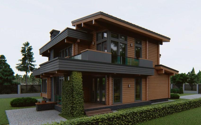 Долговечные, стильные и современные дома из клееного бруса