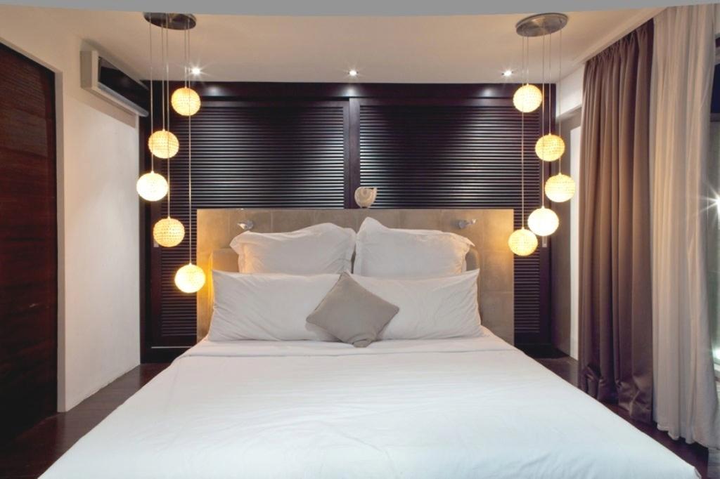 Необычные решения освещения в спальне