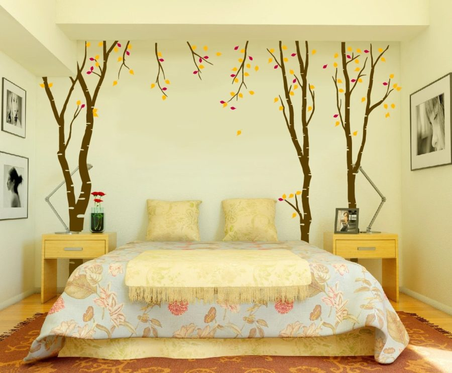 Декорируем стены, не применяя при этом обои