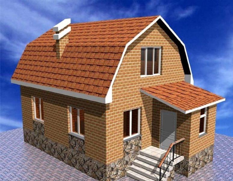 Как планировать двухэтажный мансардный дом?