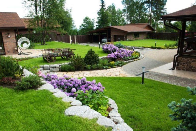 Озеленение загородного участка