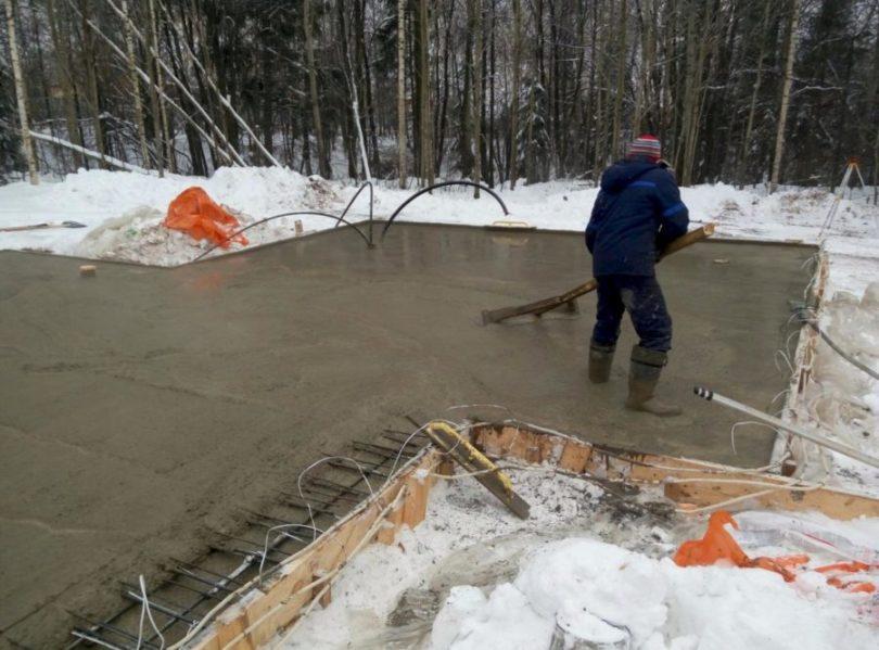 Зима - трудное время для производства бетона