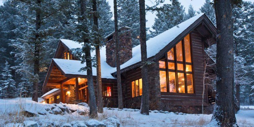 Строительство в лесу жилого дома