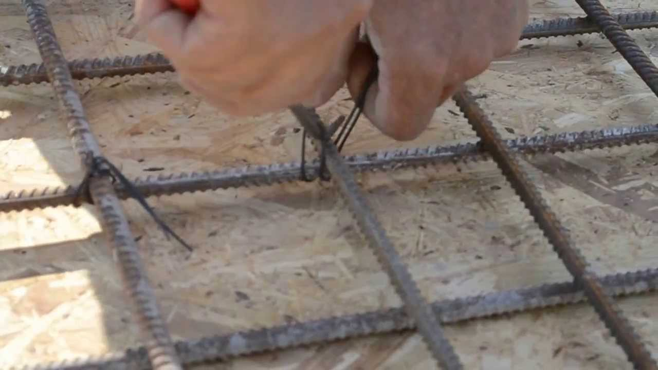 Способы связки арматурного каркаса