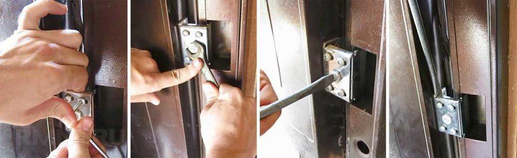 Как правильно отрегулировать входную дверь, если она прилегает неплотно?