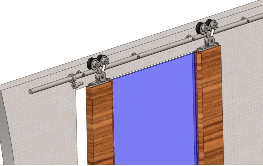 Техника установки раздвижных дверей